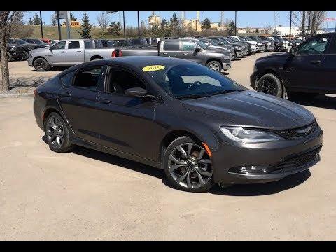 2016 Chrysler 200 S All Wheel Drive Blind Spot Detection Edmonton 19rq2869a Crosstown Dcjr Youtube