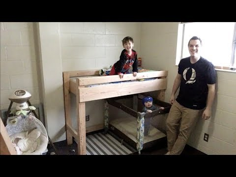 $68 Cheap DIY Toddler Bunk / Loft Bed.