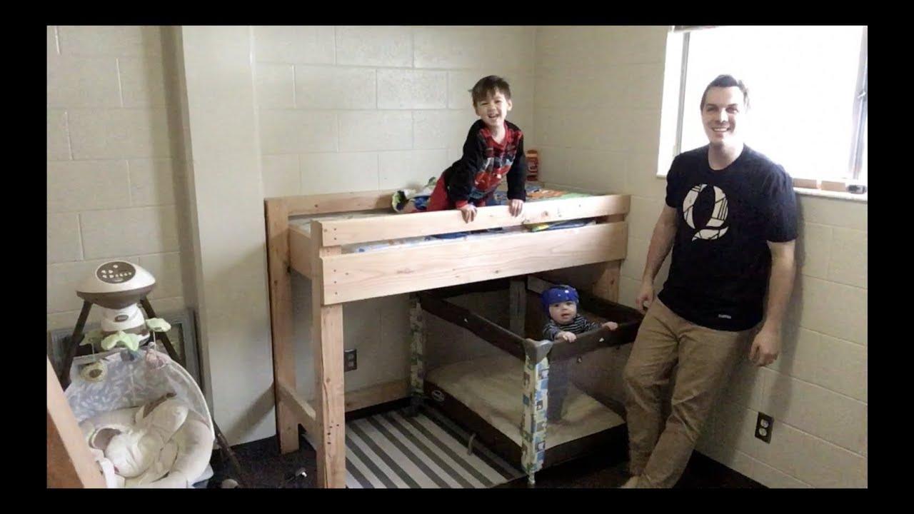 68 Cheap Diy Toddler Bunk Loft Bed Youtube