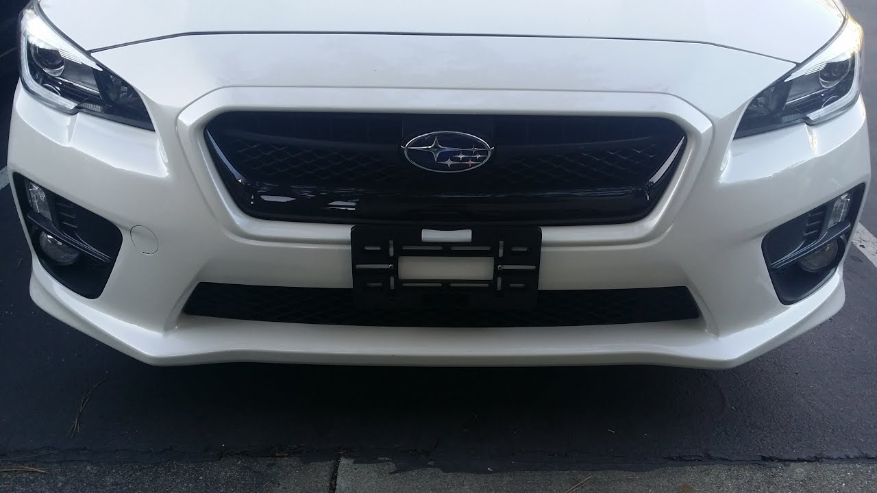 2015 2016 2017 Subaru WRX License Plate Holder Installation Using Dealer Holes - YouTube : dealer plate holder - pezcame.com