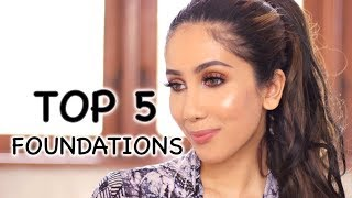 MY TOP 5 FOUNDATIONS | Foundation Paling Bagusss | suhaysalim