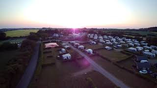 sandersvig camping, Haderslev, Denmark, drone flight