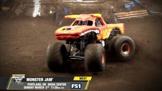 Monster Jam in Portland   Sunday, March 5th on FS1
