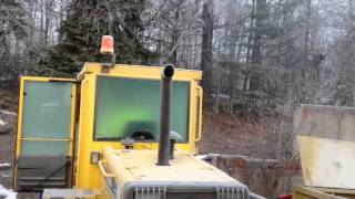 Cold start diesel Volvo wheel loader