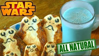 Real BLUE MILK and Porg Cookies from STAR WARS