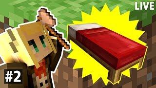 [LIVE] 【Minecraft】#2 框框很需要...一張床!!!😱麥塊才能存檔呀~