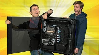 Download Building in Corsair's BIGGEST Case EVER - Corsair Slate Worldwide Exclusive! Mp3 and Videos