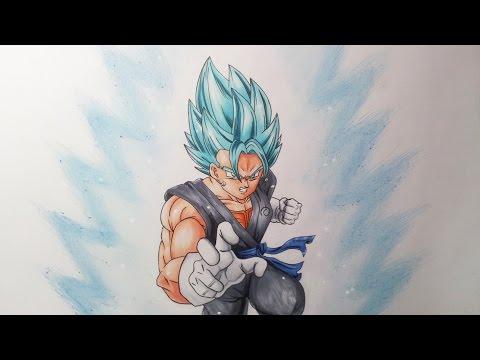 Drawing Vegito Super Saiyan Blue