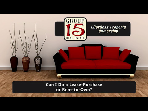 Can I Do a Lease-Purchase or Rent-to-Own?