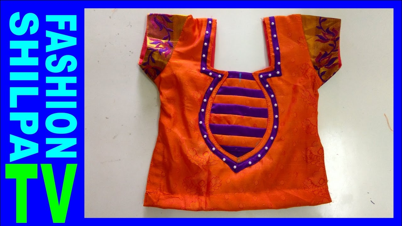 How To Make Designer Blouse At Home 26 Langa Blouse Cutting And
