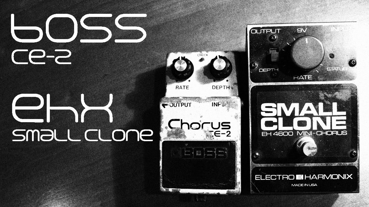 boss ce 2 vs ehx small clone youtube. Black Bedroom Furniture Sets. Home Design Ideas
