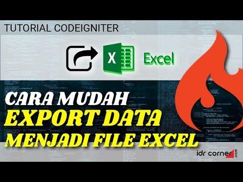 Cara Ekspor Php Ke Excel