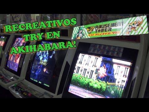 Salón Arcade en Akihabara - Recreativos Try Amusement Tower Repletos de amor