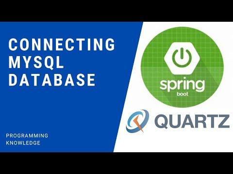 Spring Boot Quartz Scheduler Tutorial  - Connecting MySQL Database and Creating Quartz Tables