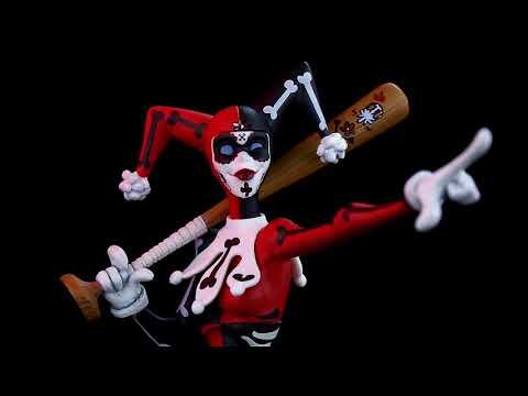 DC Comics - Artist Alley - Day of the Dead Batman Vinyl Figure by Hainan Saulique - Video