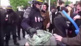 Polizeigewalt Deutschland - MENSCH setzt sich gegen Polizei, GV und 9 maskierte durch