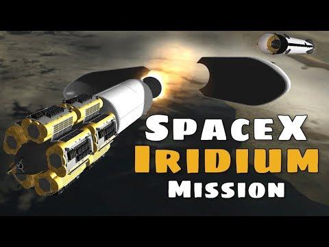 Spacex Iridium NEXT Constellation Mission 7 Simulation