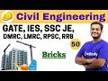 3:00 PM - Civil Engineering 2018 | Civil Engineering by Nikhil Sir | Bricks
