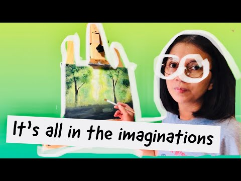 SUMMER LANDSCAPE PAINTING | AMATEUR PAINTING | ACRYLICS  PAINTING FOR BEGGINERS | NANAY NA WARAY RAW
