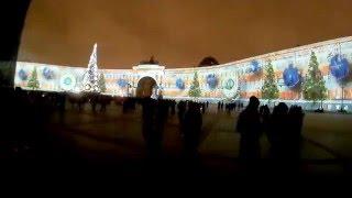 Новогоднее лазерное шоу Санкт-Петербург 2016 г.