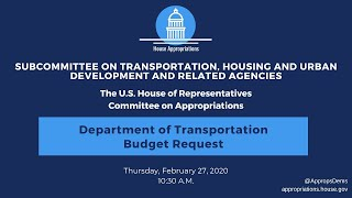 Department of Transportation Budget Request for FY2021 (EventID=110551)