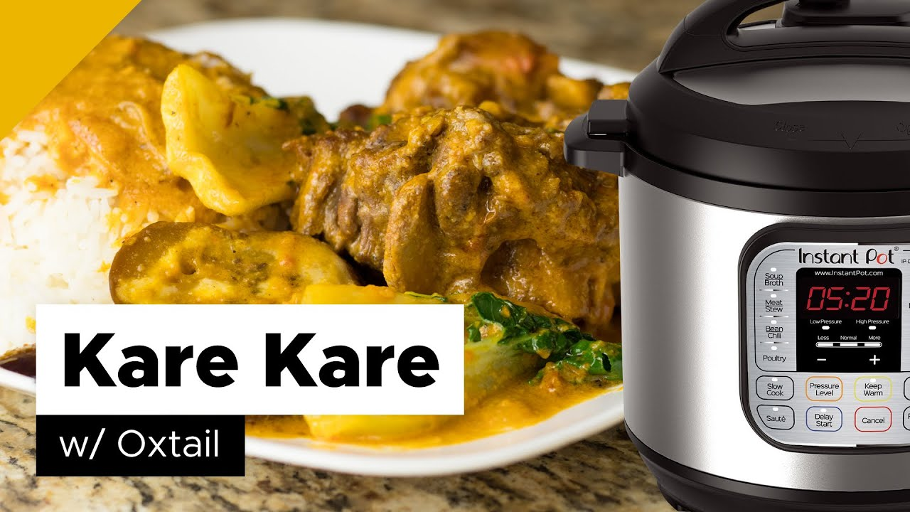 Kare Kare Instant Pot Filipino Food Youtube