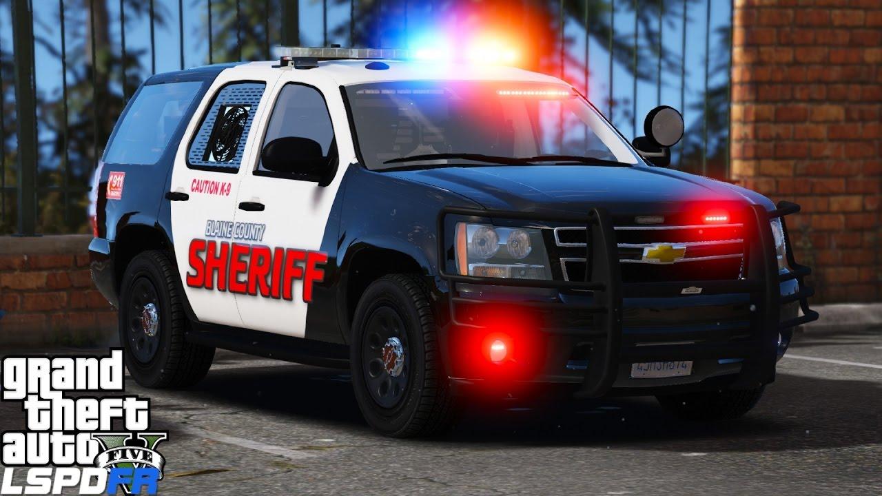 GTA 5 LSPDFR Police Mod 342 | ELS K-9 Tahoe | Blaine County Sheriff Backs  Up Paleto Bay Police