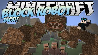 Minecraft | BLOCK ROBOT MOD! (Ride and Stomp with the Block Monster!) | Mod Showcase