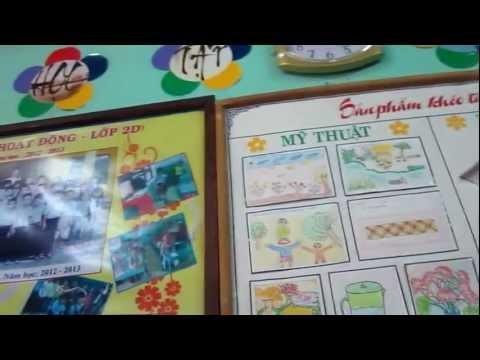Kiểu trang trí lớp học thân thiện Trường TH Nguyễn Công Sáu