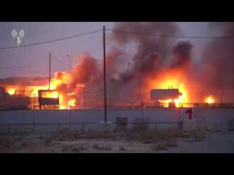 Gazans Burn Kerem Shalom