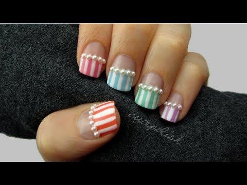 Pearls & Pastel Nails