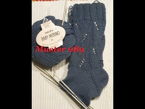 Muster 089* Stricken mit Nadelspiel*Stricken lernen*Muster für Socken*Mütze*Tutorial