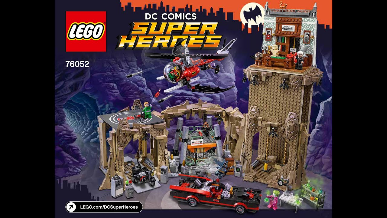 Lego the batcave instructions 6860, dc comics super heroes.