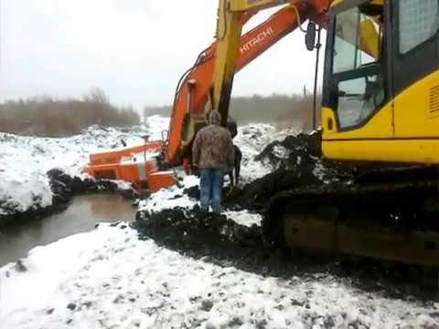Трудовые будни экскаваторщиков Labor days of excavators