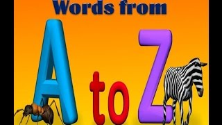 1st Class, English, Words from A to Z