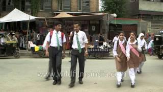 Boys and girls of Tyndale Biscoe School in Srinagar