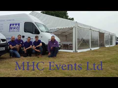 Marquee build up by MHC Events in Essex 2016