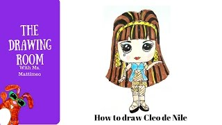 How to draw Cleo de Nile from Monster High