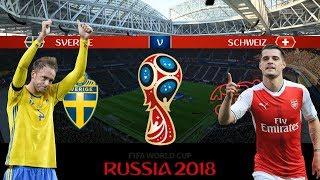 SVERIGE vs SCHWEIZ | VM 2018 i Ryssland | Åttondelsfinal | Simulerad i FIFA 18