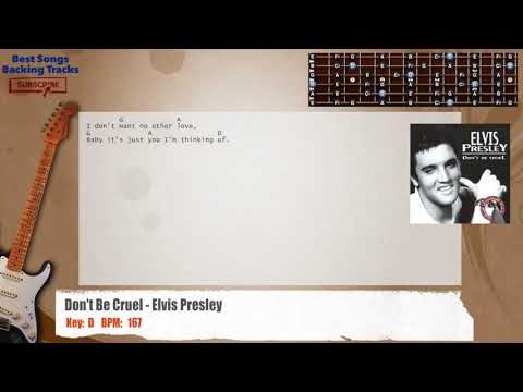 🎸 Don't Be Cruel - Elvis Presley Guitar Backing Track with chords and lyrics