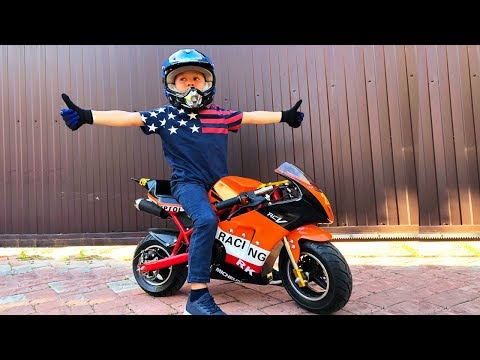 BABY Biker Unboxing Test Drive Sportbike Лев Купил Байк Детский мотоцикл распаковка