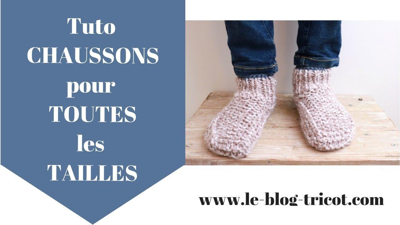 Tuto tricot: des chaussons pour toutes les tailles! - YouTube
