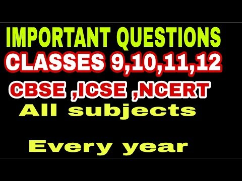 SOLVED ICSE & CBSE SAMPLE QUES and Last 10 Years questions