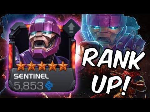 5 Star Sentinel Rank Up & Gameplay! - Marvel Contest Of Champions