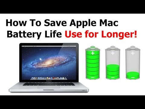 How to Save Apple Mac Battery Life / Use for Longer