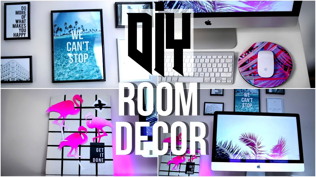 Diy tumblr room decorations 2017 diy summer room decor for Diy room decorations youtube