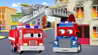 Детские мультфильмы с грузовиками - Пожарная машина - Трансформер Карл в Автомобильный Город