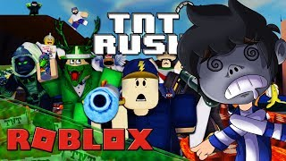 I STAY WITHOUT FLOOR ? TNT RUSH - ROBLOX Gameplay English - Grejo06