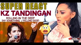 Vocal Coach REACTS to KZ Tandingan ROLLING IN THE DEEP + SAY SOMETHING + FELLING GOOD  Part 1