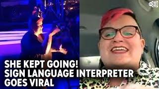 Sign Language Interpreter Goes Viral Over Rap Concert
